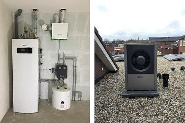 Verwarming warmtepomp lucht-water