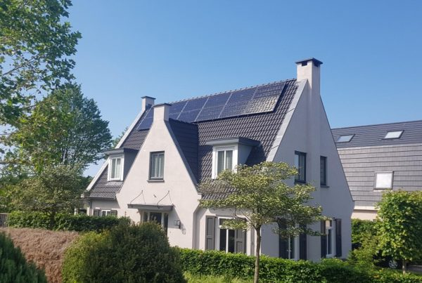Zonne-energie systeem woning.
